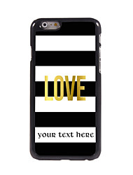 Personalized Gift Love Design Aluminum Hard Case for iPhone 6 Plus