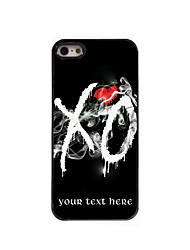 Personalized Gift XO Design Aluminum Hard Case for iPhone 5/5S