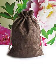 6 Piece/Set Favor Holder-Cuboid Jute Favor Bags Non-personalised