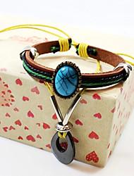 QINUO  Women's  Black Gallstone Beaded Bracelet Wholesale Fashion Bracelets Leather Bracelet
