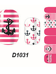 Fashion Ship Spear Nail Art Glitter Sticker