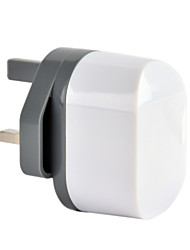 cargador de pared dual usb certificado ce, plug uk, salida de 5v 2.4a, para el iphone 5 iphone 6 / plus, aire ipad, mini ipad, ipad4