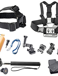 Accessoires pour GoPro, Monopied Vis bouée Grande Fixation Ventouse Caméra Sportive Avec Bretelles Clip Poignées Fixation Pour-Caméra