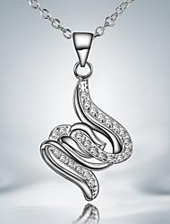 2015 productos de venta caliente plateado ocasional plata vestido de regalo collar colgante para los amantes