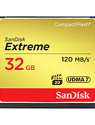 SanDisk 32GB CompactFlashMax Read Speed120 (MB/S)Max Write Speed120 (MB/S)