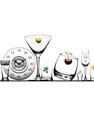 plastica pag®modern 3d occhiali effetto modello orologio da parete 31.4 * 15.7 pollici / 80 * 40 cm