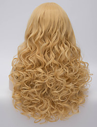 Hot sale Charming Blonde Long Body Wavy Costume Wig Hair Beautiful Synthetic Hair Wigs