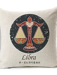 moderno libra constelação estilo modelado algodão / linho cobertura decorativa travesseiro