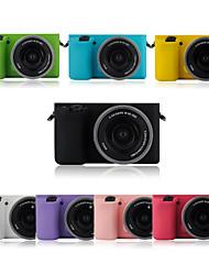 dengpin moda armadura de borracha de silicone macio pele saco caso para câmera Sony Alpha ilce-6000L A6000 (cores sortidas)