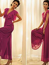 Women's Loose Chiffon Ruffle Siamese Skirts Dress