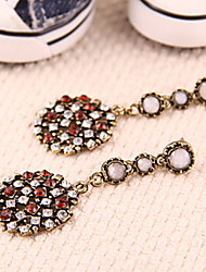 Gorgeous Vintage European And American Jewelry Diamond Circular Pendant Earrings