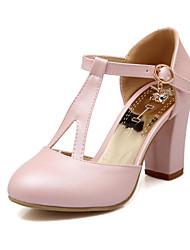 Chaussures Femme - Mariage / Habillé / Soirée & Evénement - Bleu / Rose / Blanc - Gros Talon - Talons / Bout Arrondi / Bout Fermé - Talons