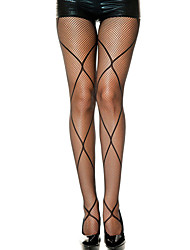 Women's Diamond Net Accent Fishnet Pantyhose