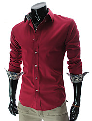High-Quality Hot Sell Chinese Style 2015 Brand Long-Sleeve Shirt Men Clothes