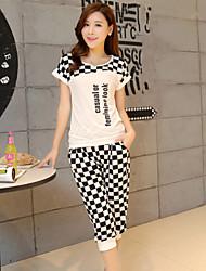 Women's Fashion Sports Suits (T-shirt& Pants)