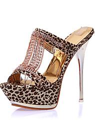 Women's Shoes Fabric Stiletto Heel Heels / Platform / Open Toe Sandals Office & Career / Dress / Casual
