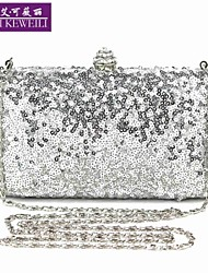 AIKEWEILI®Women's Bag Fashion Sequins Luxury Evening Bag Europe New Clutch Bag Shoulder Bag All-Match Wedding Party Bag