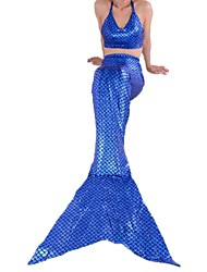 Children Mermaid Deep Blue Children's Day Kid Fairytale Costumes