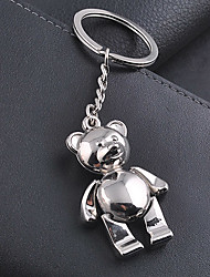 Teddy Bear Key Chain Stainless Steel Key Ring Keyring Key Holder Organizer for Wedding Business Gift