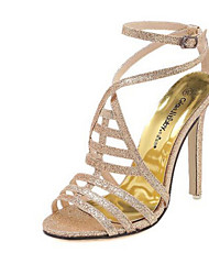 Women's Shoes  Stiletto Heel Heels/Peep Toe/Platform/Open Toe Sandals Casual Silver/Gold
