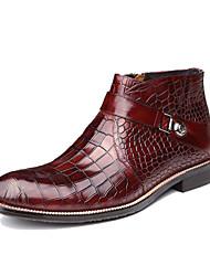Scarpe da uomo Casual Di pelle Stivali Nero/Borgogna