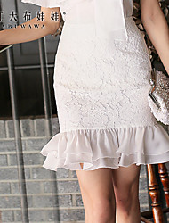 Pink Doll®Women's  Bodycon/Casual/Lace Ruffle Skirts