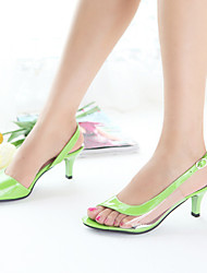 Women's Shoes  Stiletto Heel Heels/Open Toe Sandals Dress Black/Blue/Yellow/Green/Pink/White