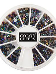400PCS Mixs Size Coloured Diamond Nail Art Decorations