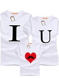 С короткими рукавами Ткань средней плотности Эластичная Семья Одежда наборы , С короткими рукавами , Хлопок , Лето