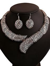 Vintage Style Zinc Alloy And Rhinestone Eagle Pattern Jewelery Set(Earrings & Necklace)