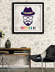 E-HOME® Framed Canvas Art, A Man in A Hat Framed Canvas Print