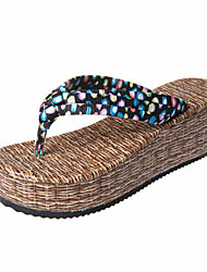 Women's Shoes Fabric Wedge Heel Sandals/Slippers Casual