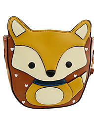 WEST BIKING® 2015 Women New Fashion Lovely Fox Pattern Bag Diagonal Package Stereoscopic Stitching Casual Handbag