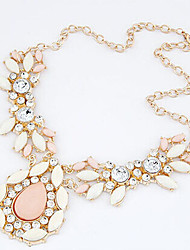Nuoqi Fashional Popular Rhinestone Gem Cherry Water Drop Necklace