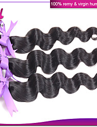 Indian Virgin Hair Body Wave 3Pcs 100% Remy Human Hair Extensions Natural Black #1B Color