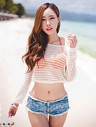 Women's Casual/Bodycon/Sexy/Cute/Beach Tassel Low Waist Short Jean Pants (Cotton/Demin)