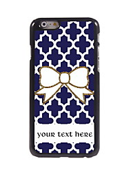 Personalized Gift Bowknot Design Aluminum Hard Case for iPhone 6