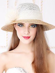 Women's Basketwork Flax Headpiece-Casual Outdoor Hats 1 Piece