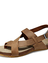 Men's Shoes Athletic Leather Sandals Khaki