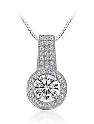 jazlyn® donna platinato Argento 925 completamente scintillante collana pendente zirconi regalo di natale