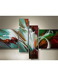 Ölgemälde auf Leinwand Satz von 4 modernen abstrakten, gestreckten Rahmen bereit, hängen Größe: 50 * 70cm * 2pcs 25 * 70cm * 2 Stück.