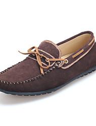 Chaussures Hommes Décontracté Marron / Jaune / Marine Daim Chaussures Bateau