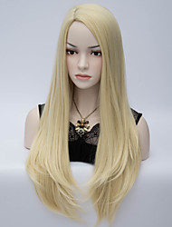 European and American Wind Partial Scalp Hair End Adduction Pale Golden Great High Temperature Silk Wig