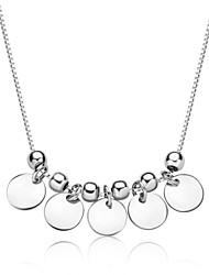 jazlyn® platina autêntica banhado a 925 libras esterlinas mulheres prata grânulos de 1 milímetro placa circular a corrente de ligação