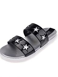Women's Shoes Flat Heel Open Toe Sandals/Slippers Casual Black/White