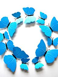 3d wall stickers da parete in stile decalcomanie colore farfalla blu adesivi murali in pvc