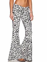 De las mujeres Pantalones Hasta la Bota - Sexy/Casual/Tallas Grandes Microelástico - Poliéster