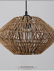Vintage Rope Made Pendant Light with One Light