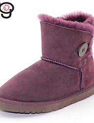 botas de pele verdadeira das mulheres de pele de carneiro mg twinface botão bailey botas