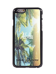 Personalized Gift Aloha Design Aluminum Hard Case for iPhone 6 Plus